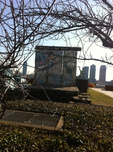 A Relic of the Berlin Wall Behind the U.N. Headquarters